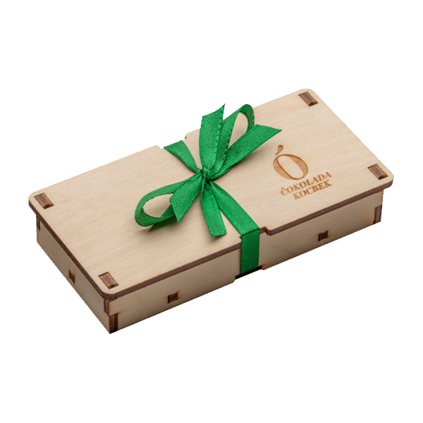 Kocbek čokolada v leseni škatlici