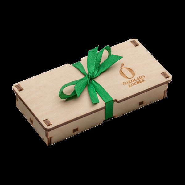 Kocbek čokolada v leseni škatlici - Oljarna Kocbek