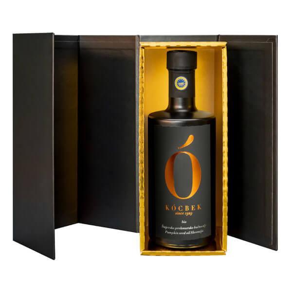 Darilno pakiranje bio štajersko prekmursko bučno olje matt-edition oljarna Kocbek - Oljarna Kocbek